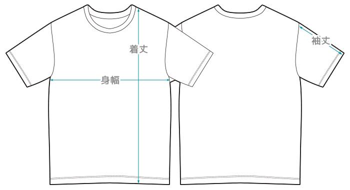 Tシャツ線画
